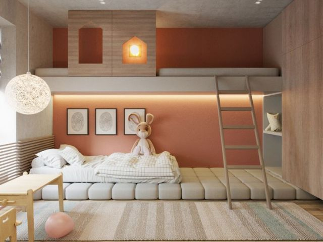 Kamar Tidur Anak Warna Terakota