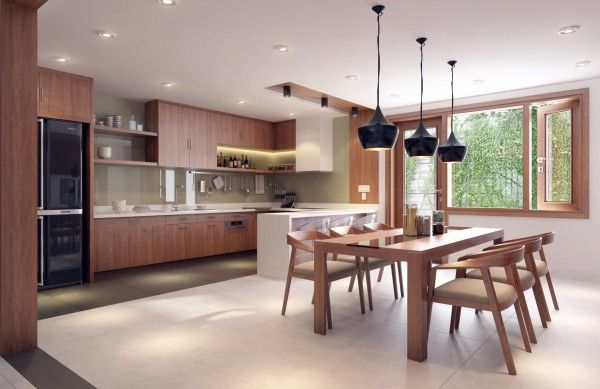 Dapur Open Plan