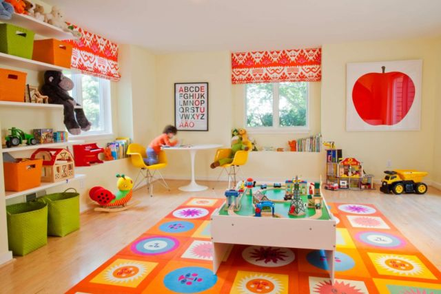 Bright playroom