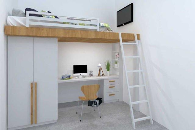 Kamar Tidur AI House Smart Living di Jakarta karya FIANO