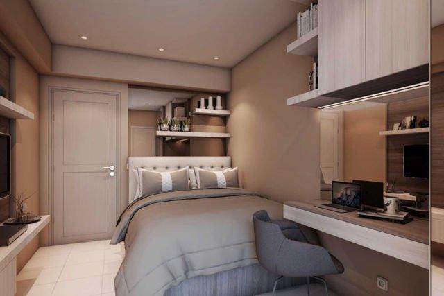 Kamar Tidur Apartemen Educity Princeton Studio di Surabaya karya Inpassion Interior Design
