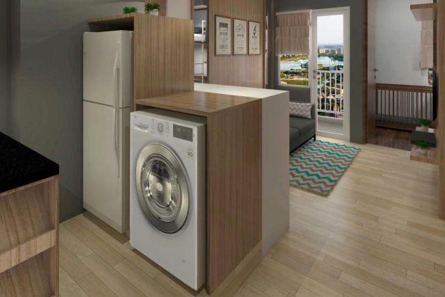 Ruang laundry SE Apartment di Bekasi karya Antarruang Studio