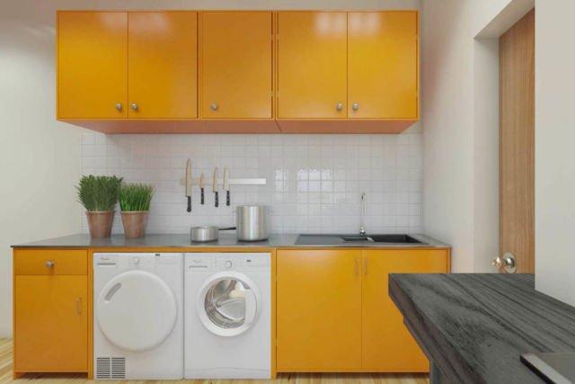 Ruang laundry Apartment Kemayoran di Jakarta karya JR Design