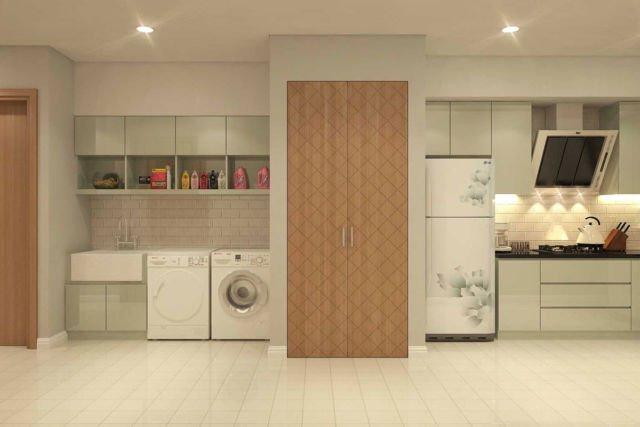 Ruang laundry Private Residential di Cikarang karya PT DEKORASI HUNIAN INDONESIA